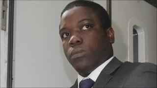 Kweku Adoboli leaving City of London Magistrates Court