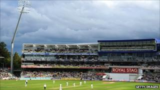 New stand at Edgbaston during this year's England v India Test match