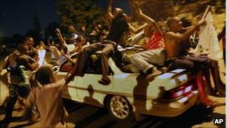 Sata supporters in Lusaka, 23 September 2011