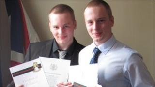 Nathan and Martin Slater