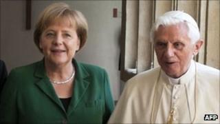 Chancellor Angela Merkel with Pope Benedict XVI