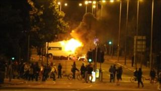 Rioting and looting in Toxteth, Liverpool involving 300-400 youths in August 2011
