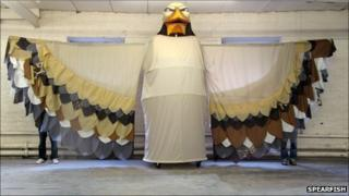 Giant eagle puppet