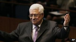 Palestinian leader Mahmoud Abbas at the UN General Assembly
