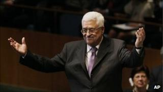 Palestinian leader Mahmoud Abbas speaks at the UN General Assembly. Photo: 23 September 2011
