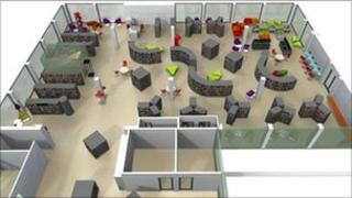 Artist impression of how the library will look