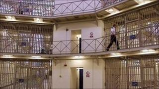 Prison officer in the Rotunda area of HMP Manchester