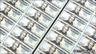 US $20 dollar bills