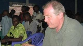 Christopher Shale at the opening of the refurbished Girubuntu school in Kigali in 2007