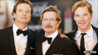 Colin Firth, Gary Oldman and Benedict Cumberbatch