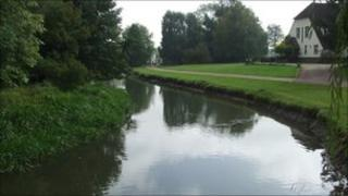 The River Roding in Fyfield