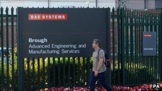 Workers at BAE in Brough