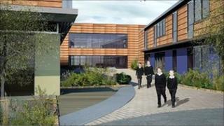 South view of the new Sarum Academy