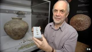 Stephen Minnitt with the Frome Hoard