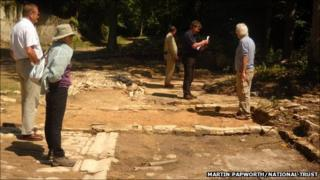Archaeological dig at Woodchester Park
