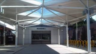 The new ticket office at the refurbished Southend East train station