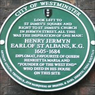 Green plaque for Henry Jermyn