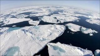 Broken ice in Baffin Bay