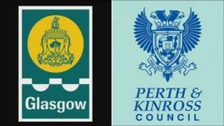 Glasgow City Council and Perth and Kinross Council logos