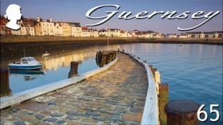 Guernsey stamp showing Salerie Harbour