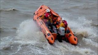 Weston-super-Mare lifeboat Anna Stock