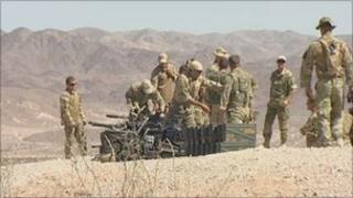 40 Commando train in the Mojave Desert