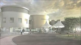 Artist impression of the specialist emergency care hospital with a children's wing
