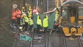 Crash site at Barrow on Soar