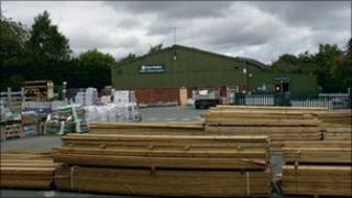 Builders yard in Much Wenlock