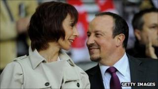 Montse and Rafa Benitez