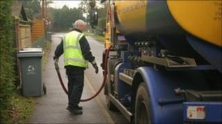 A heating oil delivery