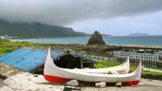 Boats near Lanyu Island beach