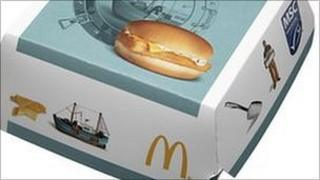 McDonald's Filet-O-Fish box with MSC label