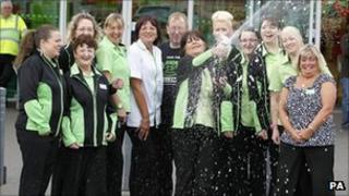 Asda workers who won the lottery