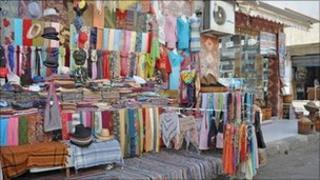 A market stall in Sharm el-Sheikh