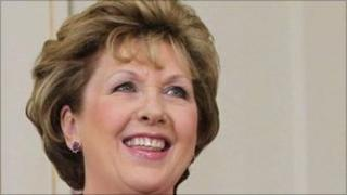 The Irish President, Mary McAleese.