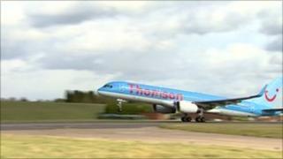 Thomson's biofuel flight takes off from Birmingham