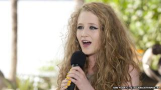 Janet Devlin, one of The X Factor finalists