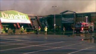 Scene of Coventry fire