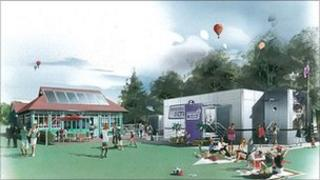 Artists impression of the Harborough Screen, a proposed 100-seater cinema for Market Harborough. Image: Terry Lewis