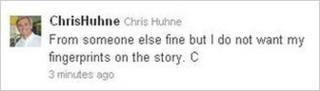 Chris Huhne's tweet