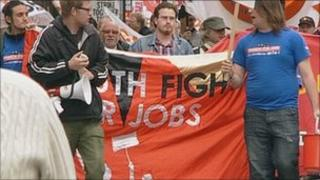 Protest march in Hull