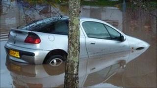 Flooding in Cornwall - Pic: Simon Johnson