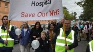 Heathwood Hospital protest march