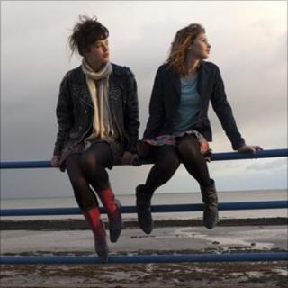 "Jessica Brown-Findlay and Felicity Jones in ""Albatross"". Dir Niall MacCormick. Copyright CinemaNX Films Three Ltd 2010"