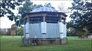The bandstand at Castle Fields