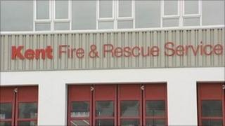Kent Fire and Rescue Service sign