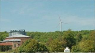 Glyndebourne wind turbine impression
