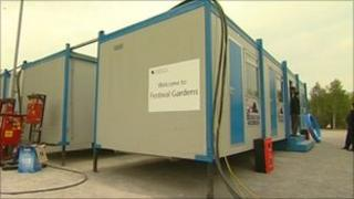 Temporary accommodation at the University of Lincoln