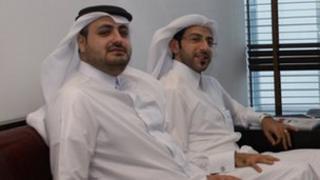 Qatari interns Ahmed Al-Anqar and Fahad Hiiji